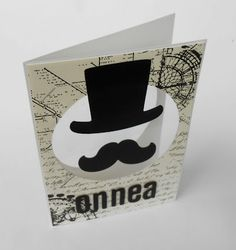 b-day card  Dies used: 657551 circles 659063 top hats & mustaches
