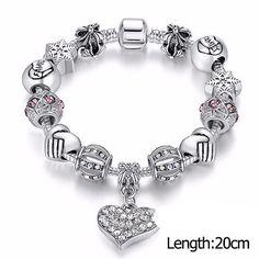 Kids Charm Bracelet. Silver Plated Crystal Charm Bracelet #Bracelet #charm #jewelry