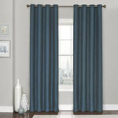 Shop for Eclipse Kingston Thermaweave Blackout Curtains. Get free delivery On EVERYTHING* Overstock - Your Online Home Decor Outlet Store! Tab Curtains, Grommet Curtains, Blue Curtains, Blackout Windows, Blackout Curtains, Blackout Panels, Thing 1, Colorful Curtains, Window Panels
