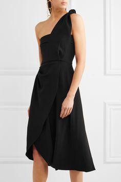 J.W.Anderson | One-shoulder draped crepe dress | NET-A-PORTER.COM