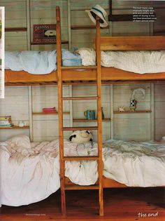Browse exclusive Bedroom Ideas photos to make your house a home at Domino. Decorate your space with inspiring interior designed rooms, styles and colors. Bunk Beds Built In, Kids Bunk Beds, Sleeping A Lot, Sleeping Nook, Bunk Rooms, Dorm Rooms, Loft Spaces, Small Spaces, Fashion Room