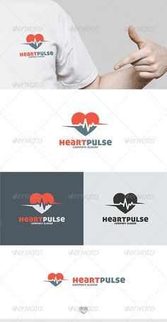 Heart Pulse Logo  #GraphicRiver         Fully Editable Logo, AI, EPS, CDR, PNG files  Used free font link in the zip folder  	 Easy work and good luck   Don't forget to rate if you like it!