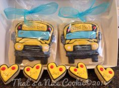 School bus cookies | Cookie Connection