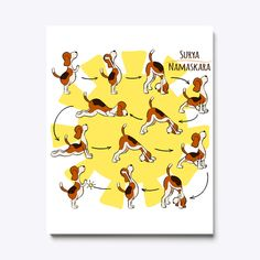 Discover Beagle Yoga Poses Canvas Print T-Shirt from Yoga Fanatic, a custom product made just for you by Teespring. - This cute canvas print will remind you every. Cute Canvas, Beagle, Yoga Poses, Winnie The Pooh, Disney Characters, Fictional Characters, Just For You, Canvas Prints, Shirt