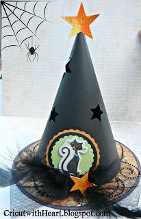 Cricut with Heart: Witch's Hat made from Artiste