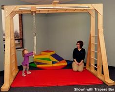 indoor swing frame for occupational therapy