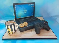 Computer and ps3 controller cake