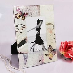"Beautiful ""Capturing Cheer"" Butterfly-Motif Photo Frame"