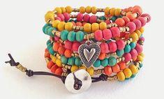 Color Me Happy Wrap Tutorial!   #wraptutorial #wrapDIY #wrapbracelet #colorfulbracelet #colorfuljewelry #beadedjewelry #beadedbracelet #happymango #lovetobead #beading #beads #happymangobeads