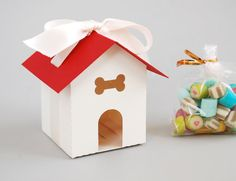 Dog House Favor Box Set of 12 Choose your own by BluefinWorks, $18.00