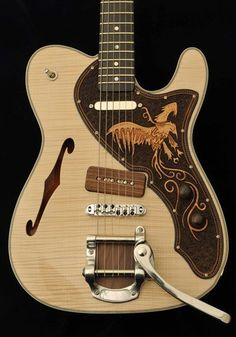 Beautiful customer Telecaster allegedly by French luthier, Sylvain Balestrieri.