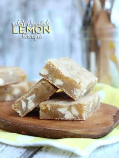 White Chocolate Lemon Blondies..SO good!!