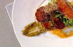 Lamb Loin with Sesame, Chilli and Roast Garlic Recipe by Tom Aikens. Tom Aikens Patron/Chef Tom's Kitchen