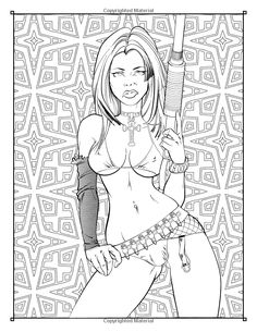 The Gentleman's Colouring Book: 24 beautifully crafted illustrations to colour for all appreciators of the feminine form (Gentleman's Colouring Books) (Volume Fairy Coloring Pages, Free Adult Coloring Pages, Coloring Books, Colouring, Character Art, Character Design, Anime Sensual, Sexy Drawings, Erotic Art