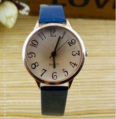 Dámské stylové hodinky s velkým ciferník modré – dámské hodinky Na tento  produkt se vztahuje nejen 786e86da3c3