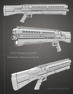 WIP UTS15 shotgun (occlusion render) by AliSheikhanGo on DeviantArt