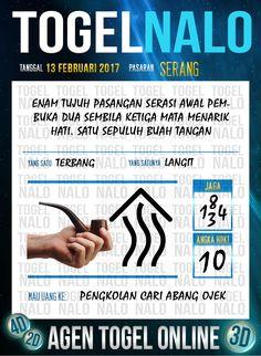Tafsir Acak 2D Togel Wap Online Live Draw 4D TogelNalo Serang 13 Februari 2017