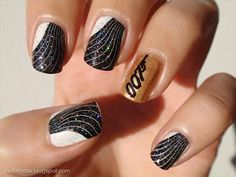 A diary of a nail polish addict: James Bond Skyfall inspired nails