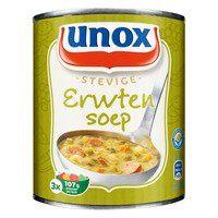 Unox Soep in blik stevige erwtensoep 800 ml online bestellen | AH.nl