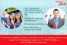 A Start-up visa is an extension of the Tier 1 Graduate Entrepreneur Visa in many ways, not just a replacement. A 'new and improved' version. For information on how you can apply successfully for a Start-up visa with the help of our legal assistance, you can call/Whatsapp our UK Immigration Experts based in Mumbai | New Delhi | Chandigarh | Bangalore | London on +91 9819127002 | email info@smartmove2uk.com or you can also BOOK AN ONLINE CONSULTATION. Council Of Europe, Mumbai News, Uk Universities, British Government, New Opportunities, Chandigarh, First Step, Moving Forward, Business Planning