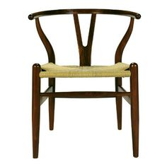 Alban Wishbone Dining Chair - American Walnut - Premium Modern Furniture by Nuevo