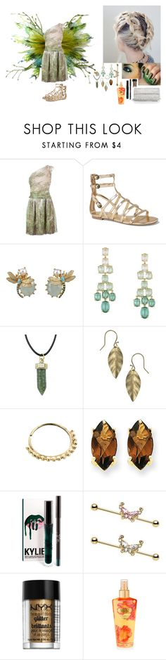 """""""Aria~ homecoming 2017 ((enchanted forest)) garden fairy"""" by lilith2002 on Polyvore featuring Alberta Ferretti, Express, Les Néréides, BCBGMAXAZRIA, People Tree, Kevin Jewelers, Victoria's Secret and Whiting & Davis"""