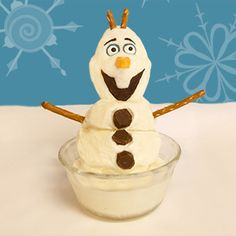 Olaf from Frozen Ice Cream Dessert | by @Spoonful