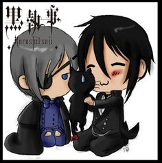 Black Butler. Ciel getting pissed at Sebastian for admiring yet another kitty.
