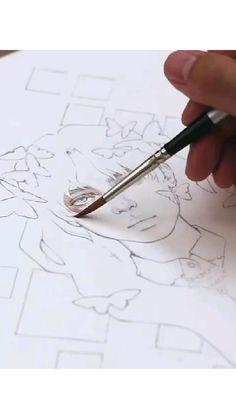 Art Drawings Sketches Simple, Anatomy Art, Diy Canvas Art, Drawing Techniques, Art Tutorials, Art Lessons, Watercolor Art, Artist Sketchbook, Sketch Painting