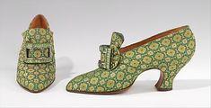 Evening pumps Pietro Yantorny  (Italian, 1874–1936) Date: 1925–30 Culture: French Medium: silk, rhinestones Dimensions: 7 x 9 1/2 in. (17.8 x 24.1 cm) Accession Number: 2009.300.1593a, b