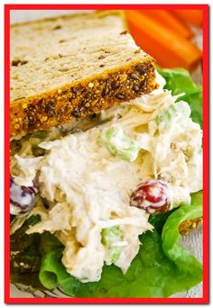 Factors You Need To Give Thought To When Selecting A Saucepan Easy Chicken Salad Recipe With Grapes Using Rotisserie Chicken And Greek Yogurt. This Classic Chicken Salad Sandwich Is The Best You Have To Try It Fun Easy Recipes, Easy Salad Recipes, Chicken Salad Recipes, Easy Meals, Healthy Recipes, Healthy Food, Shrimp Recipes, Healthy Eating, Low Carb Dinner Recipes