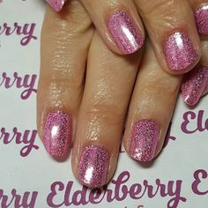 #pink and #sparkly #ilac by @i.n.k_london in #hubbabubbalicious with @magpie_beauty #glitter in #ella #loveink #lovemagpieglitter #naturalnails #cardiff #cardiffnails #mobilenails