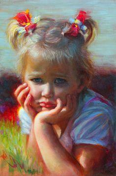 Little Miss Sunshine - oil by ©Talya Johnson (FineArtAmerica)