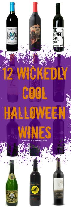 Pick your poison when hosting a Halloween party with one of these 12 Wickedly Cool Halloween Wines! Creative cool Halloween party wine labels! Halloween Gift Baskets, Halloween Labels, Adult Halloween Party, Halloween Items, Halloween Treats, Halloween Templates, Halloween 2018, Wine Baskets, Host Gifts