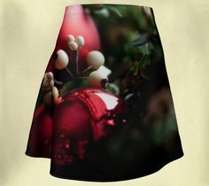 Christmas Flared Skirt - Wee Dog Wearable Art - Xmas - Holiday - Festive - Decorations - A-line- Skater - Fashion Skirt - Unique Photography by WeeDogWearableArt on Etsy