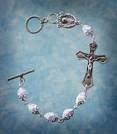 Rosary Bracelet Prayer Bracelet by AngelaVenArtwork on Etsy