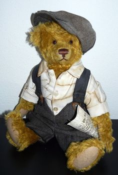 "3-part Outfit ""NEWSBOY"", Vintage Style, for antique teddy bears & dolls #Handmade"