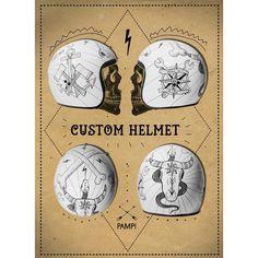 custom helmet | pampi