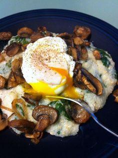 ramp polenta poached egg