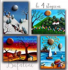Stone Art Painting, Pebble Painting, Pebble Art, Stone Crafts, Rock Crafts, Sea Crafts, Diy And Crafts, Jobs In Art, Painted Rocks Craft