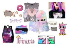 """""""By: Maddy"""" by bandsvansandsodacans ❤ liked on Polyvore featuring Wildfox, Forever 21, Pusheen, Converse and JanSport"""