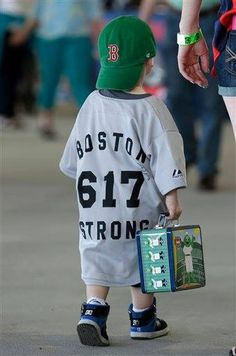 This tiny Red Sox fan is Boston Strong!