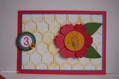 Biene Maja Einladungskarte - zum 3. Geburtstag Stempel ... Freizeit ... pur