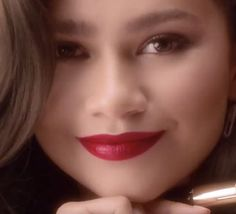 Zendaya for Lancome L'absolu rouge ruby cream lipstick 2019 #zendaya #lancome Zendaya Maree Stoermer Coleman, Zendaya Style, Female Celebrities, Lancome, Lipstick, Cream, Red, Creme Caramel, Lipsticks