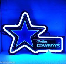 Rare New Dallas Cowboys Football Beer Bar Real 3D Neon Light Sign FAST FREE SHIP