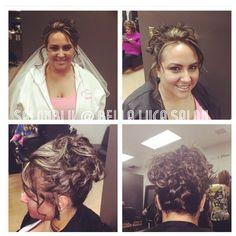 #Bridal #Makeup #hair #pretty #Bellablu4hair. SalonBlu @ Bella Luca Salon