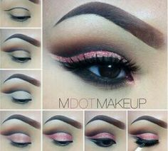 Pink cut crease tutorial