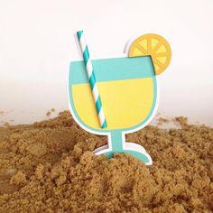 Lemonade Card #Silhouette #CAMEO #Portrait #Project #Cardmaking #LoriWhitlock