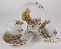 2 x Teacups Shelley Ideal Series 0187 Heather Vintage Bone China England | eBay