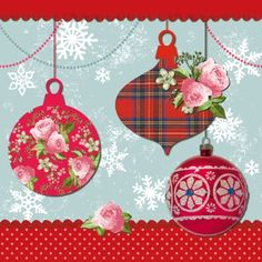 Ambiente,  Christmas - tree-jewelry,  Christmas,  lunchnapkins,  baubles